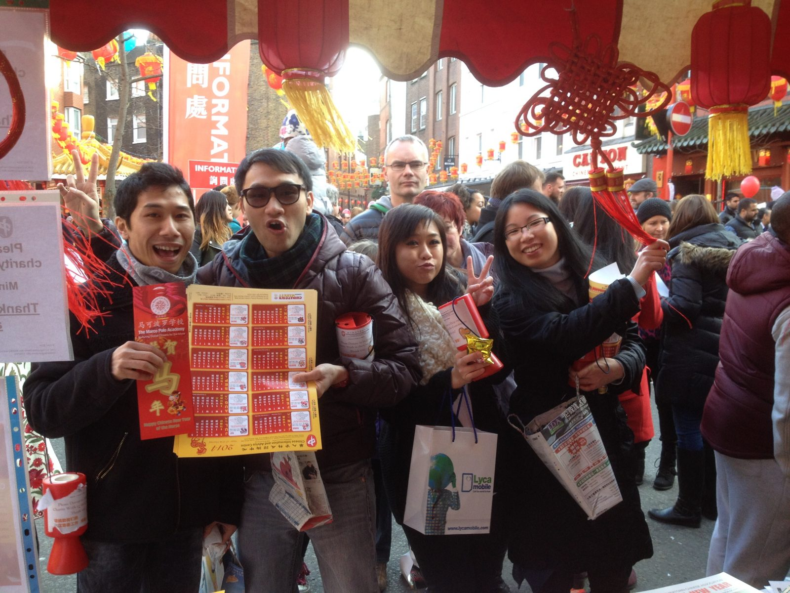 4 Young volunteers at CNY