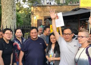 SAVE FRANK – 三百熟客助倫敦華人咖啡檔聲援示威