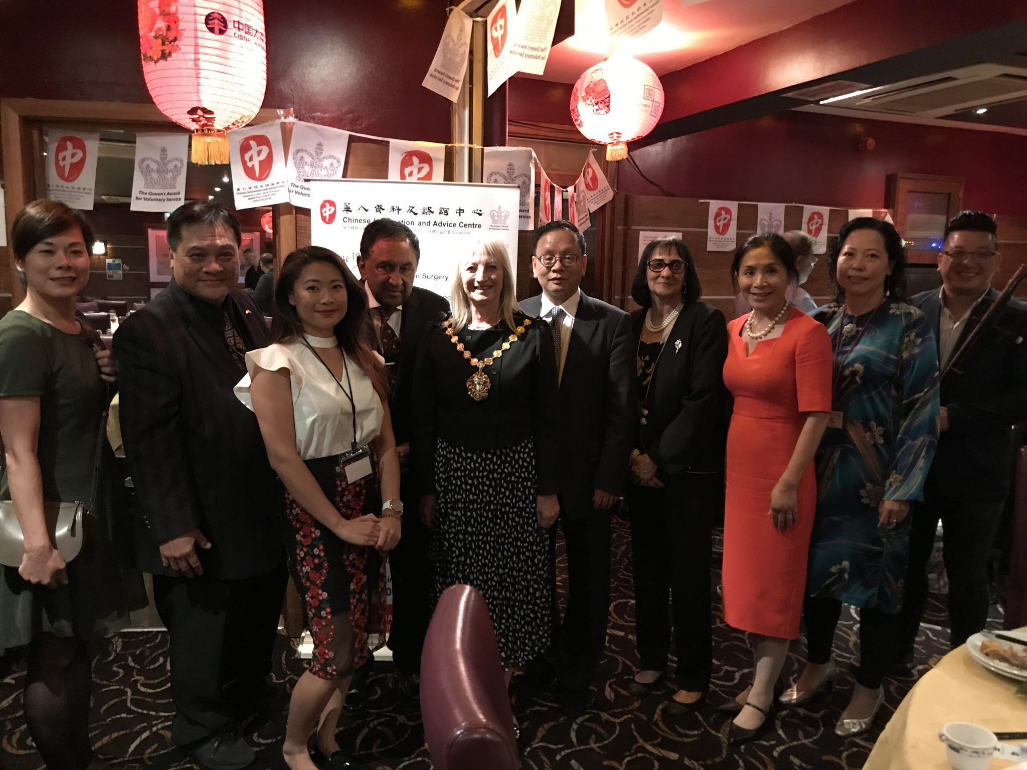 華人資料及諮詢中心年度慈善晚宴昨在倫敦中國城圓滿舉行