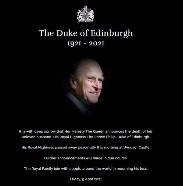 HRH Prince Philip The Duke of Edinburgh Thank you for your service Sir Rest In Peace 🙏🏻