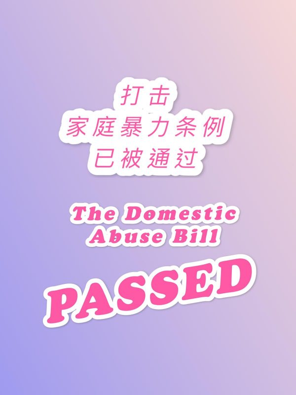 The Domestic Abuse Bill PASSED!